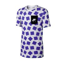 Nike Air Max Print Tee White Wolf Grey Violet 739471-101
