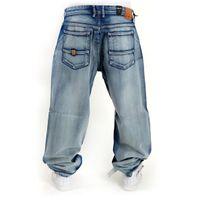 Pelle Pelle Baxter Denim Baggy Pants White Wash