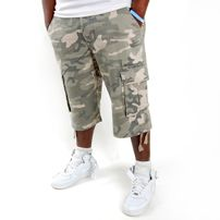 Raw Blue Cargo Shorts Desert