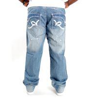 Rocawear Thick Rick Loose Fit Denim Jeans Light Sand Blue