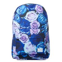 Spiral 21 Roses Backpack Bag Blue
