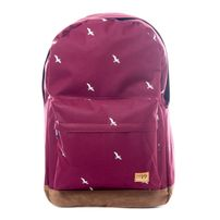 Spiral Bird Backpack Bag Dark Wine