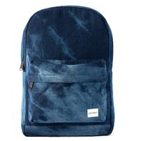 Spiral Bleached denim Backpack Bag Blue