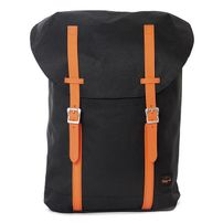 Spiral Classic Hampton Backpack Bags Black Neon Orange