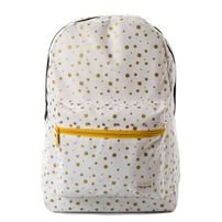 Spiral Gold Polka Dot Backpack Bag