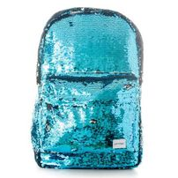 Spiral Mermaid Blue Sequins Backpack Bag