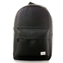 Spiral Ostrich Black Backpack Bag