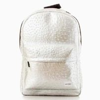 Spiral Ostrich Silver Backpack Bag