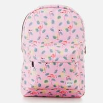 Spiral Pink Flamingo Backpack Bag