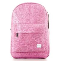 Spiral Pink Glitz Mesh Backpack Bag