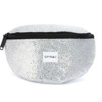 Spiral Silver Glamour Bum Bag