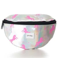 Spiral Silver - Pink Unicorns Bum Bag