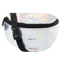 Spiral Silver Rave Bum Bag