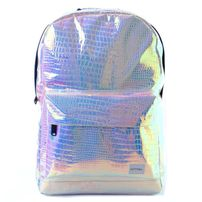 Spiral Textured Blush Holographic Backpack Bag