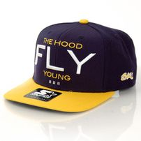 Streetz Iz Watchin Fly Young Snapback Navy Yellow