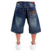 Thug Life Denim Shorts Dark Blue TL-DS09-071S
