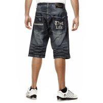 Thug Life Denim Shorts Dark Blue TL-ND-003S