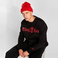 Thug Life / Jumper B.Distress in black