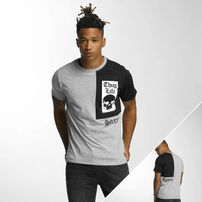 Thug Life Qube T-Shirt Grey Melange