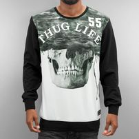 Thug Life Skull Sweatshirt Black