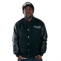 Thug Life Street Fighting Logo College Jacket Black TLF11JKT005-101