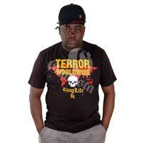 Thug Life Terror Worlwide Tee Black