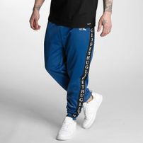 Thug Life Two Stripes Sweatpants Blue