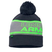 Under Armour Pom Beanie Black Neon Green