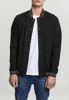 Urban Classics 3-Tone College Sweat Jacket black/green/fire red