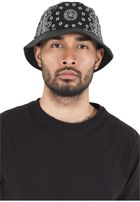 Urban Classics Bandana Leather Imitation Brim Bucket Hat black