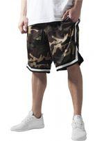 Urban Classics Camo Stripes Mesh Shorts woodcamo/blk/wht