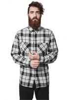 Urban Classics Checked Flanell Shirt 2 wht/blk