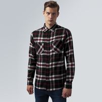 Urban Classics Checked Flanell Shirt 3 blk/wht/red
