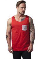 Urban Classics Contrast Pocket Jersey Big Tank red/wht/aztec