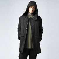 Urban Classics Cotton Peached Canvas Parka black Black