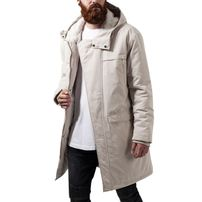 Urban Classics Cotton Peached Canvas Parka sand
