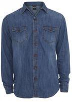 Urban Classics Denim Shirt lightblue