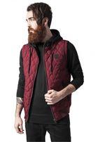 Urban Classics Diamond Quilted Hooded Vest burgundy/black