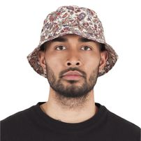 Urban Classics Flower Pattern Bucket Hat beige