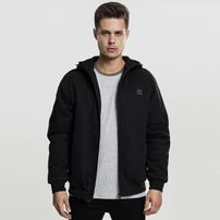 Urban Classics Hooded Cotton Zip Jacket black