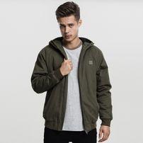 Urban Classics Hooded Cotton Zip Jacket darkolive