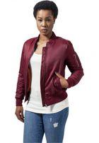 Urban Classics Ladies Basic Bomber Jacket burgundy