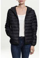 Urban Classics Ladies Basic Hooded Down Jacket black