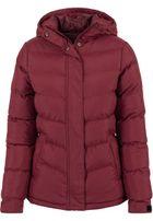 Urban Classics Ladies Bubble Jacket burgundy