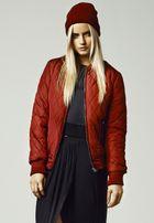Urban Classics Ladies Diamond Quilt Nylon Jacket burgundy