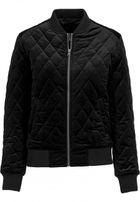 Urban Classics Ladies Diamond Quilt Velvet Jacket black