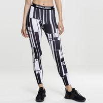Urban Classics Ladies Graphic Sports Leggings black/white
