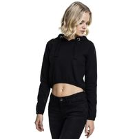 Urban Classics Ladies Interlock Short Hoody black