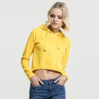 Urban Classics Ladies Interlock Short Hoody chrome yellow