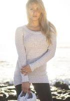 Urban Classics Ladies Long Wideneck Sweater offwhite